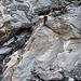 Abstieg von der Neuen Monte Rosa-Hütte auf den Grenzgletscher