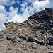 Abstieg über die Felsen, etwas heikel