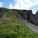"""Der """"easy"""" Aufstieg aufs kleine Lobhorn. Couloir oder Felsen aufsteigen ist cool, Abstieg wäre hier am gäbigsten. Habe ich erst bei der Umrundung richtig gesehen…"""