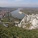 Blick auf Hainburg und die Donau(auen)