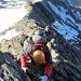 Im Aufstieg auf dem Felsgrat: alles ein simples II, aber Anna hat eindrücklich fotografiert :-) (Foto ZVG Anna)