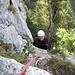 Bernhard nach der ersten Querung (4.SL)