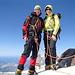 Yes, we can! Auf dem 4634m, höchsten Schweizer Gipfel.