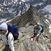 Anspruchsvolles Wandern und leichtes Klettern wechseln sich ab