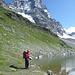 kurz oberhalb der Hütte, der schon erwähnte kleine See