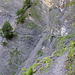 Längere ausgesetzte Passagen, in den steilen Runsen nicht gesichert