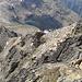 Blick zurück vom Piz Languard unten die Chamanna Georgy