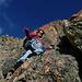 Sur le magnifique rocher de l'arête N