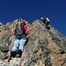 Agnès et Flurina sur le magnifique rocher de l'arête N