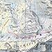 Route mit den beiden Satteln, dem (Schmelzwasser-)See und dem Verhauer. Quelle: www.map.geo.admin.ch
