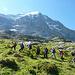 Eigertrail, Aufstieg, dahinter die Eiger Nordwand