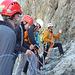 Letzte Instruktionen von unserem Bergführer Tom