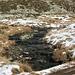 Tiefgefrorenes Moorgebiet