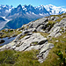"""View of Mont Blanc from """"Grand Balcon Sud"""""""