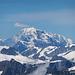 Auch der Mont Blanc gab sich die Ehre.