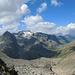 Fuorcla Albana: ein Blick auf den zurückgelegten Aufstieg. Links der Piz Polaschin, hinten Mitte der Piz Lagrev.