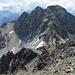 Im ersten Viertel des Aufstiegs. Blick hinab auf die Fuorcla Albana und hinüber zum Piz Albana.