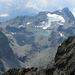 Noch im Aufstieg: etwas herangezoomt, der Piz Lagrev mit seinem imposanten Gletscher und dem dazugehörigen See.