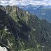 Rückblick auf Bosco d'Aüt und Piategn-Grat