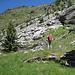 Von oberen Tramoggioa-Ruinen blick zurück nach Pian Tasin