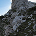 Der imposante Gipfelaufbau... (Beim Klick in`s Bild können einige Markierungen entdeckt werden)