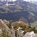 Blick vom höchsten Punkt zum Gipfelkreuz runter