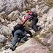 Abstieg an der untersten Steilstufe
