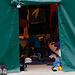 Bei einem Rundgang im Camp - fest installiertes Zelt (mietbar)