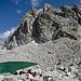 Blick in Richtung Osten, im Hintergrund der Felsaufbau mit Pik Archimed (Gipfel nicht sichtbar).