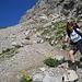 steiles Geröll im Abstieg von der Bockkarscharte
