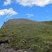 Auf dem Bergrücken, Blick nach N in Richtung Gipfel, der noch lange nicht sichtbar werden wird.