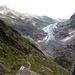 Das Ziel in Sicht... Links vom Gletscher hoch