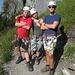 Pose vor dem Flimserstein