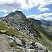 L' inizio delle cascate del Suretta con la cima Levis