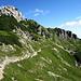 Rückblick auf die Querung unterhalb der Läuferspitze (Ostseite) vom Reintaler Jöchle.<br />Von hier stieg ich auf die Läuferspitze