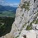"Unterwegs am ""Friedberger Klettersteig""<br />Links das Tannheimer Tal"
