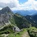 Kellenspitze und Schneid vom Gipfel der Roten Flüh