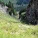 Blick vom Gipfelgrat ins Engetal