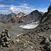 Fuorcla da Flix. Hier kommt der Weg von der Jenatschhütte herauf. Rechts der Vadret d'Agnel.