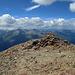 Unter den Wolken - der Westgipfel der Tschima da Flix, 3301 m.