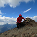 Gipfelfoto bei Handschuhwetter. Kalt und sehr windig.