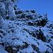 blaues Licht beim Aufstieg im Gohen Gang
