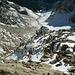 Über diese Steilstufe unterhalb vom Grinnerferner führt der Abstieg durch die Gasillschlucht.