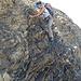 Kraxelstelle im unteren Wildhornzustieg