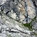 Der Einstieg des Saula-Klettersteiges mit dem KS-Schild.