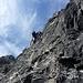 Insgesamt sind im senkrechten Wandteil knapp 200 Höhenmeter zu überwinden...geht ordentlich in die Muckis  :(