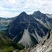 Alles überragend - die Schesaplana-Gruppe mit dem stark dezimierten Brandner Gletscher.