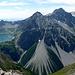 Jetzt ind er totale die Schesaplana-Gruppe samt Lünersee...und dem echt auffallend riesigen Schotterkegel unterhalb des Seekopfs
