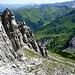 Der Abstiegsweg bleibt bis fast ins Saulajoch immer abwechslungsreich.
