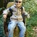 Zweite Tour auf den Ruchen am 8.10.2006: Eine kleine Pause muss sein! Besonders wenn er Förster so bequeme Sitze bastelt.